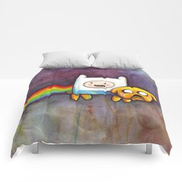 Nyan Time with Jake and Finn Comforters