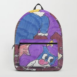 Cat Fight With Dead Fish Backpack