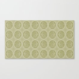 Grisaille Antique Gold Neo Classical Ovals Canvas Print
