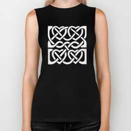 Celtic Knot Blue Hearts Biker Tank