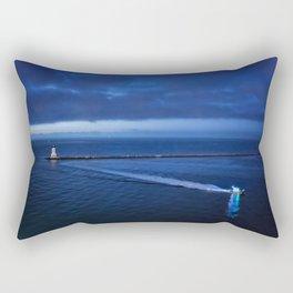 Coming into the Harbor at Dawn Rectangular Pillow