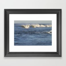 Abstract Wave Framed Art Print