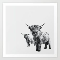 LULU & SARA - Scottish Highland Cows Art Print