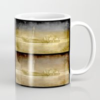 ships Mugs featuring Ships by Anki Hoglund