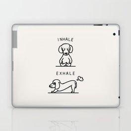Inhale Exhale Dachshund Laptop & iPad Skin