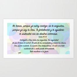 Burbujas de color - Isaías 41, 10 Art Print