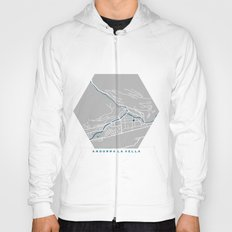 Andorra La Vella city map grey colour Hoody