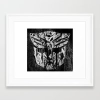 transformer Framed Art Prints featuring Transformer by Beastie Toyz