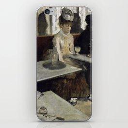 The Absinthe Drinker by Edgar Degas iPhone Skin