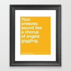Chorus of Angels Framed Art Print
