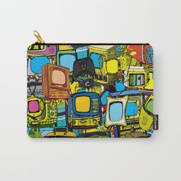 Televisions of various ages Carry-All Pouch