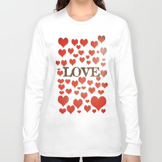 Love Heart Valentines Design  Long Sleeve T-shirt