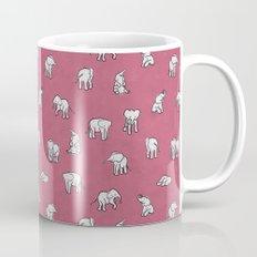 Indian Baby Elephants in Pink Mug