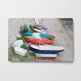 Boats Ashore Metal Print