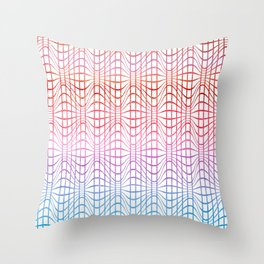 Straight and curved lines - Optical Game 19 Throw Pillow