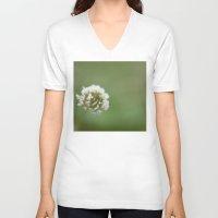 clover V-neck T-shirts featuring clover by studiomarshallarts