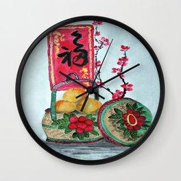 Basket full f Mandarin Oranges Wall Clock