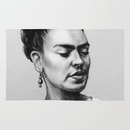 Portrait of Frida Kahlo Rug