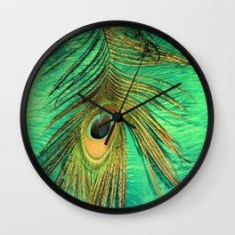Eye Of A Peacock Wall Clock