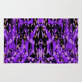 Purple and Black Abstract Rug