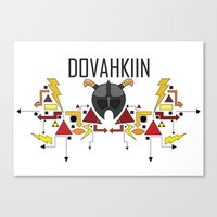 skyrim Canvas Prints featuring Skyrim: The Dovahkiin - RED (Skyrim) by E_Nicholson