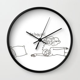 The lazy girl Wall Clock