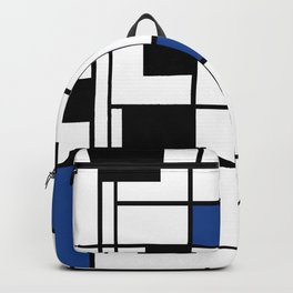 Indigo , abstract , geometric Backpack