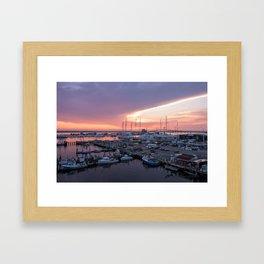 Newport Harbour Framed Art Print