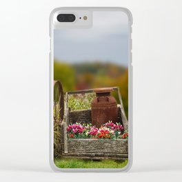 Flower Cart Clear iPhone Case