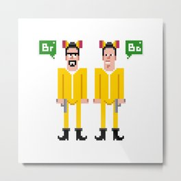 Pixel Breaking Bad Metal Print