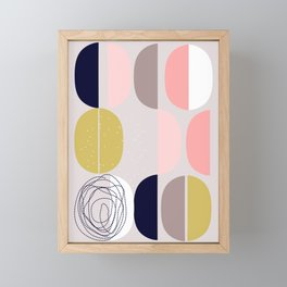 Scandinavian abstract Framed Mini Art Print