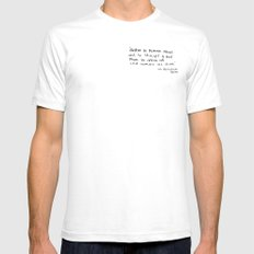 The Quote and the Photograph SMALL White Mens Fitted Tee