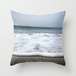 Sea Foam Blues Throw Pillow