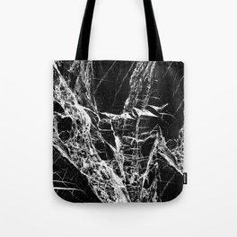 Black Marble Pattern Tote Bag