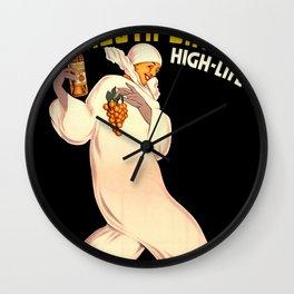 Italian Vermouth, join the high life Wall Clock