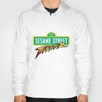 sesame street Hoodies featuring Sesame Street Fighter by Franz24