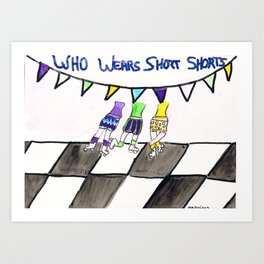 Who Wears Short Shorts     60's records Art Print