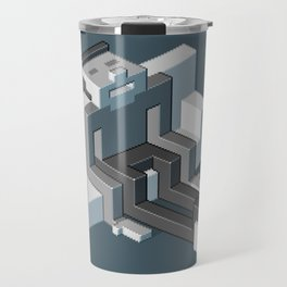 Couch slouch pixel artwork Travel Mug