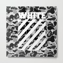 off white black bape Metal Print
