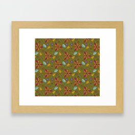 Colorful flowers surface Framed Art Print