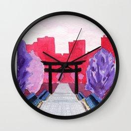 Japan Illustration Wall Clock