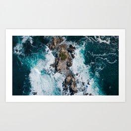California Ocean Aerial Art Print