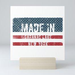 Made in Saranac Lake, New York Mini Art Print