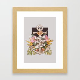 Remove everything that holds you down Framed Art Print