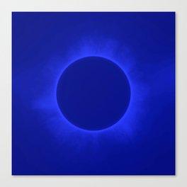 Solar Eclipse in Marine Color Canvas Print