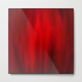 Abstract 4 - Red Strech Metal Print