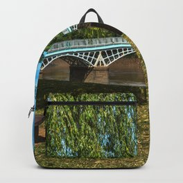 A Riverside Seat At Chepstow Backpack