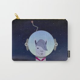 Unique Lama Astronaut Design Carry-All Pouch
