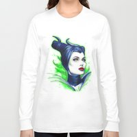 maleficent Long Sleeve T-shirts featuring Maleficent by marziiporn