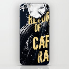 Return of the cafe racer iPhone Skin